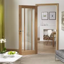 xl joinery internal oak veneer worcester 3 panel clear glazed fd30 fire door