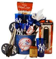 new york yankees lgating gift basket hoping for a win tonight holiday