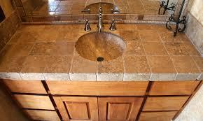 Best Bath Decor bathroom granite tiles : Alluring Tile Countertops Durango Stone At Bathroom | Home Design ...