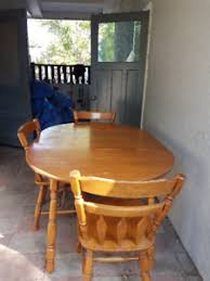 maple kitchen table and chairs
