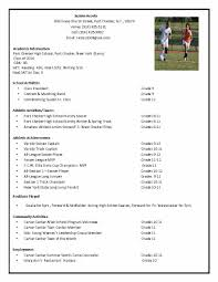 Soccer Player Resume soccer recruiting resume Google Search Tillie Pinterest 1