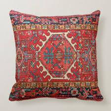 photo print of antique oriental turkish carpet throw pillow zazzle com