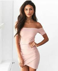 Light Pink Short Tight Dress Pin On Homecoming Dresses Collection