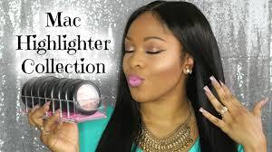 my mac highlighter collection swatches um tan dark skin tones you