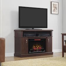 image of small electric fireplace entertainment center