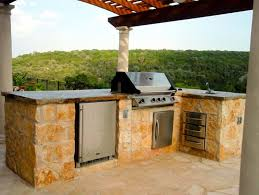 built in grill outdoor refrigerator sink outdoor kitchen greenscapes landscaping and pools austin