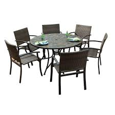 outdoor dining sets for 6 round table patio dining sets home depot piece set round table