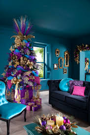 enchanting xmas tree decorations ideas with green purple christmas