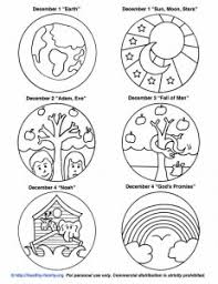 Small Picture Free printouts to color and make your own Jesse Tree Advent