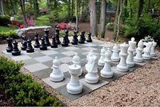 garden chess set. Hammer Crown Garden Vinyl Chess Mat; Fits Pieces Set 12-Inch King