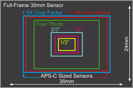 Dslr Sensor Size Chart Sensor Size And Filmmaking Choosing The Right Camera For