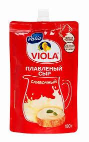 БЗМЖ <b>Сыр плавленый Viola</b> Сливочный 45% 180г Россия ...
