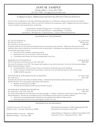Director Of Nursing Resume Sample Clinical Director Resume 1