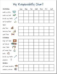Responsibility Chart Can Change To Fill In Name Of Child