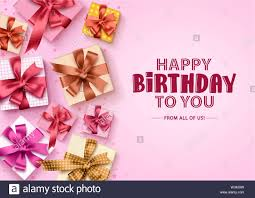 Gifts Background Happy Birthday Gift Boxes Background Birthday Greeting Card