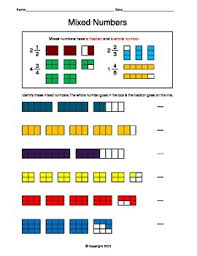 1000+ images about summer school math on Pinterest | Fractions ...This worksheet introduces mixed numbers. Students are to identify the mixed numbers. This sheet