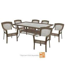 home depot hampton bay outdoor furniture spring haven grey 7 piece patio dining set with cushions included choose your own home depot hampton bay patio