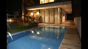 home swimming pools at night. 4bhk Magestic Bungalow Night View Home Swimming Pools At