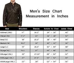 Leather Jacket Size Chart Cafe Racer Leather Jacket Vintage Mens Biker Brown Waxed