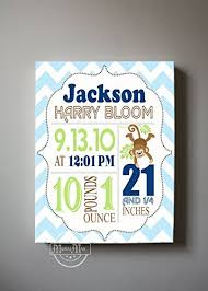 personalized stretched canvas birth announcement gift custom baby name date weight stats  on personalized baby announcement wall art with amazon personalized stretched canvas birth announcement gift