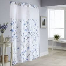 hookless cherry blossom 2 pc fabric shower curtain liner set hookless fabric shower curtain with snap