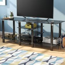 Ebern Designs Nyle Glass 60 Tv Stand Nyle Tv Stand For Tvs Up To 65 Inches