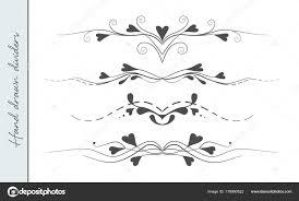 Divider Graphic Design Divider Graphic Vector Hand Drawn Flourishes Text Divider
