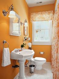 appealing small bathroom design color schemes good bathroom paint colors  orange small bathoom decoration white cera