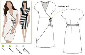 Wrap Dress Sewing Pattern Mesmerizing Tia Knit Wrap Dress Style Arc