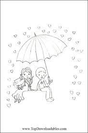 cute wedding coloring page