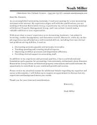 Sample Cover Letter Accounting Leading Accounting Finance Cover
