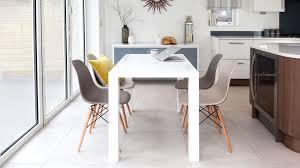 eames furniture design. 4 Seater White Gloss Dining Table And Eames Chairs Furniture Design