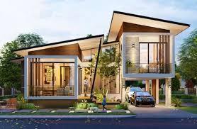 Ketersediaan lahan yang terbatas membuat anda harus memutar otak untuk memanfaatkan lahan yang ada. Lingkar Warna 11 Desain Rumah Modern 2 Lantai Dengan 3 Kamar Tidur Denah