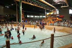 wave pool and kids play fort mackenzie at great wolf lodge in garden grove california