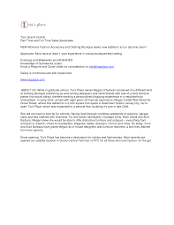 Best Sales Associate Cover Letter Examples Retail Management
