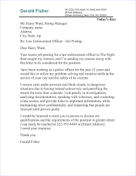 Police Officer Cover Letter Sample