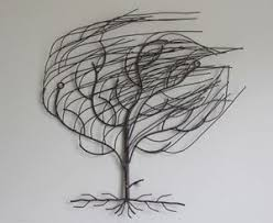 iron 039 blowing in the wind 039 tree  on metal wall art tree blowing wind with iron blowing in the wind tree wall art hanging metal iron shabby