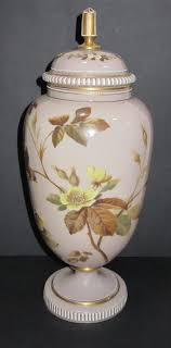large victorian stone coloured glass vase cover previous next