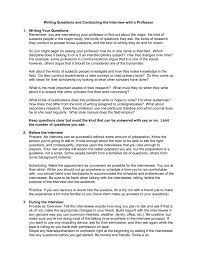 Scholarship Interview Questions Writing Questions And Conducting The Interview With A Professor