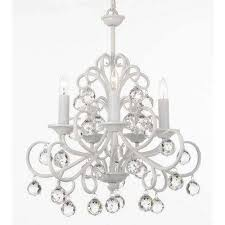 versailles bellora iron and crystal 5 light white chandelier