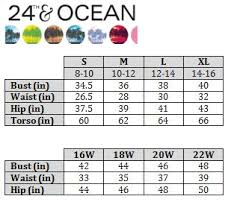 ocean by size swimstyle fit guide size charts by brand
