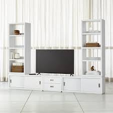 white media center. Contemporary Center Aspect White Modular Media Center With Drawers And A