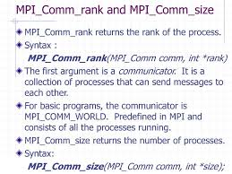 mpi comm size introduction to mpi programming ganesh c n ppt download