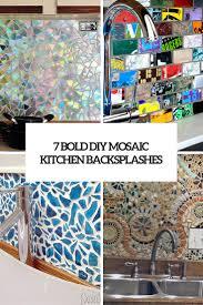 Mosaic Kitchen Backsplash 7 Cute And Bold Diy Mosaic Kitchen Backsplashes Shelterness