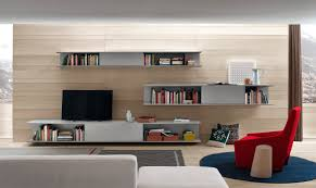 contemporary tv wall unit wooden by decoma design
