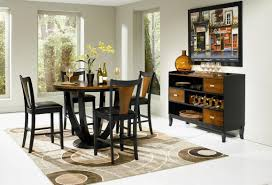 Cherry Wood Kitchen Table Sets Coaster Boyer 102098 102099 Black Wood Pub Table Set In Los Angeles Ca