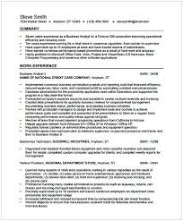 Business Analyst Resume For Freshers