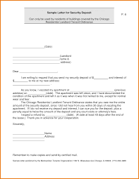 Free Sample Security Deposit Return Letter Docoments Ojazlink