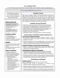 Financial Analyst Resume Sample Unique Resume Samples Program
