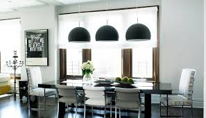 kitchen table lighting dining room modern. Sleek Modern Kitchen With Three Black Dome Pendant Lights Hung Over A Dining  Room Table Lighting G
